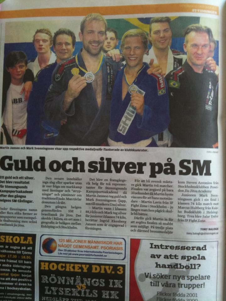 Guld och silver på SM