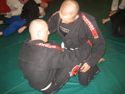 Neil and Christian training