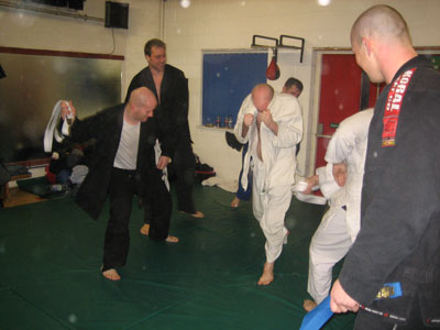 David McLaughlin walking towards his blue belt