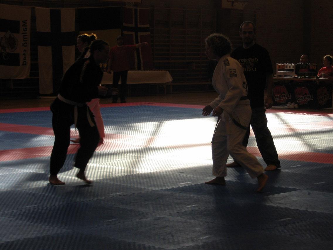 Ingrid i början av hennes match
