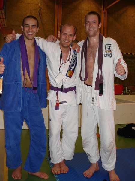Fler tummar upp! Deltagarna i den öppna lila klassen: Karim Makdoumi, Pilo Stylin och Martin Janson.