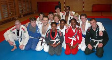 Gruppfoto efter träningen