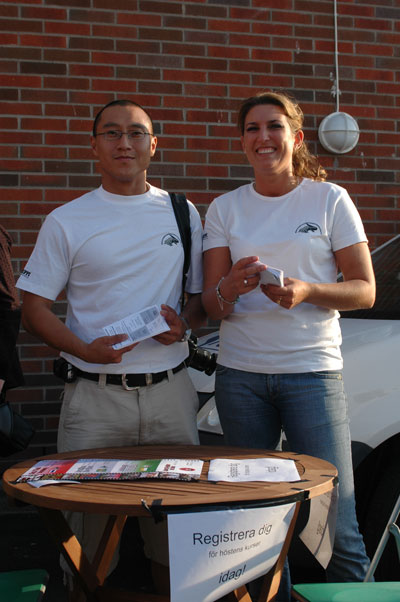 Anna och Joakim informerade om våra verksamheter och om nybörjarintaget som börjar redan om en vecka