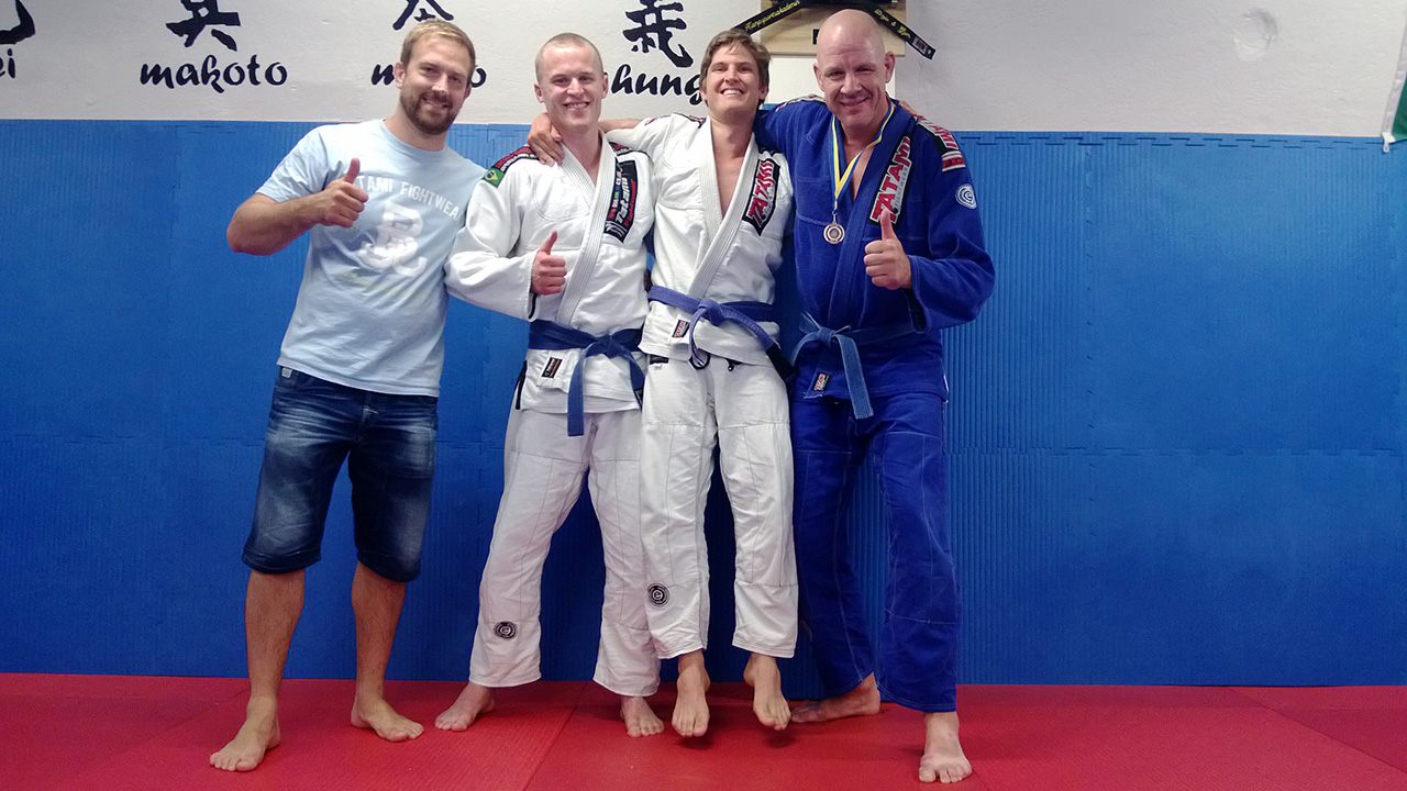Christoffer Landström (Shindo), Adam Billger (Shindo) och Mikhael Jansson